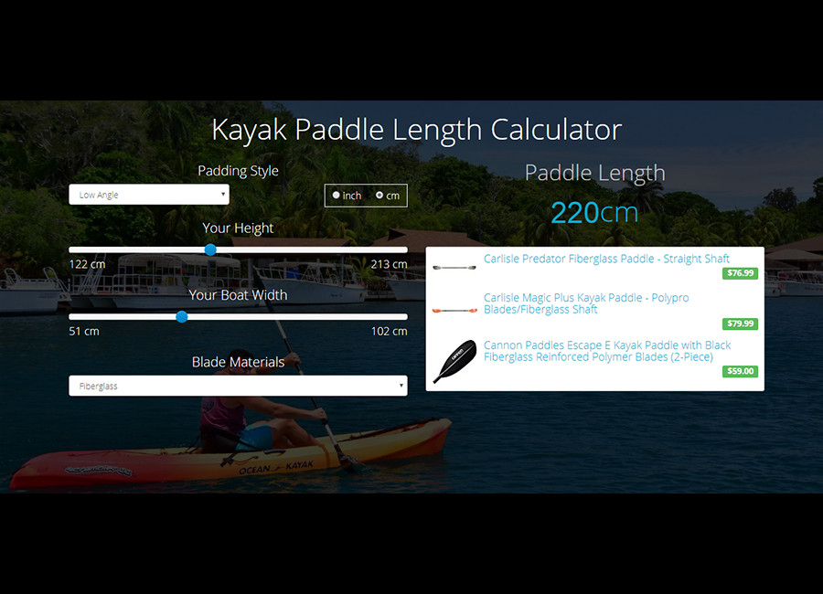 Paddle Length Calculator