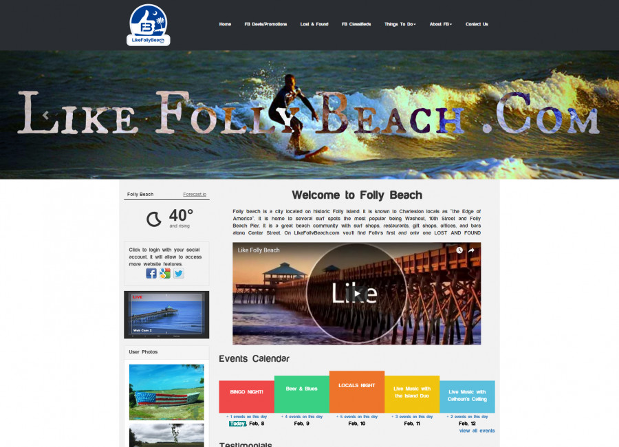 LikeFollyBeach Website